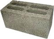 Блок стеновой бетонный 4-х щелевой или керамзитобетонный
